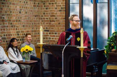 Scott MacDougall preaching