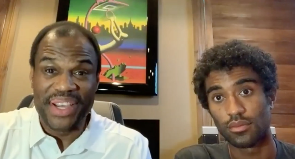 David Robinson and David Robinson Jr. address Faith+Finance in a June 12 webinar.