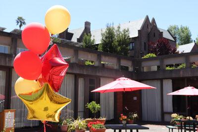 Balloons on campus